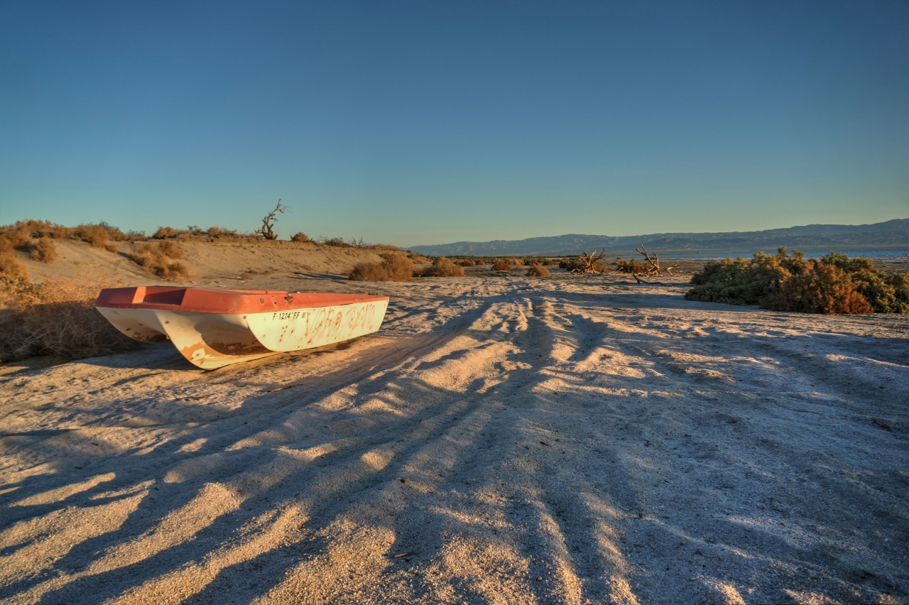 Boat Salton Sea