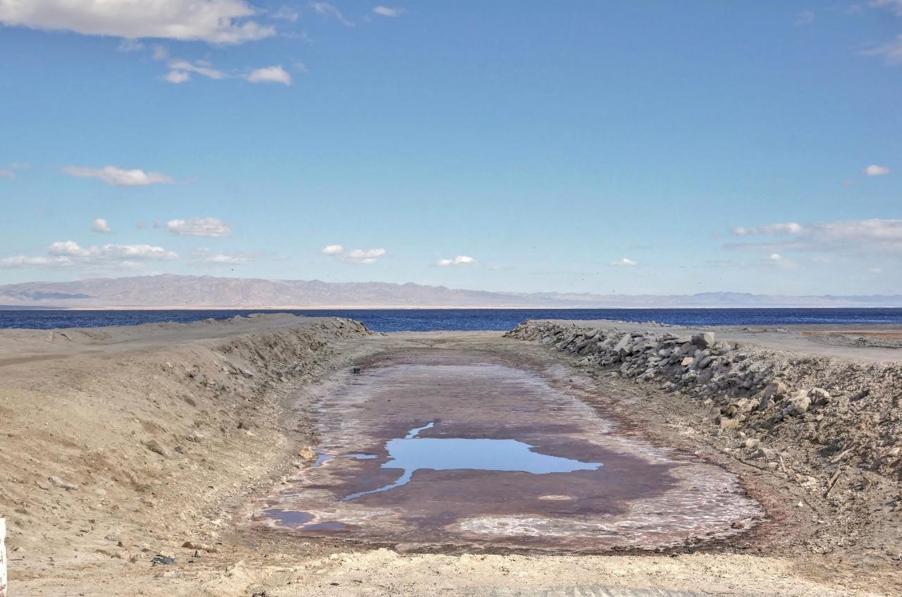 Salton Sea receding