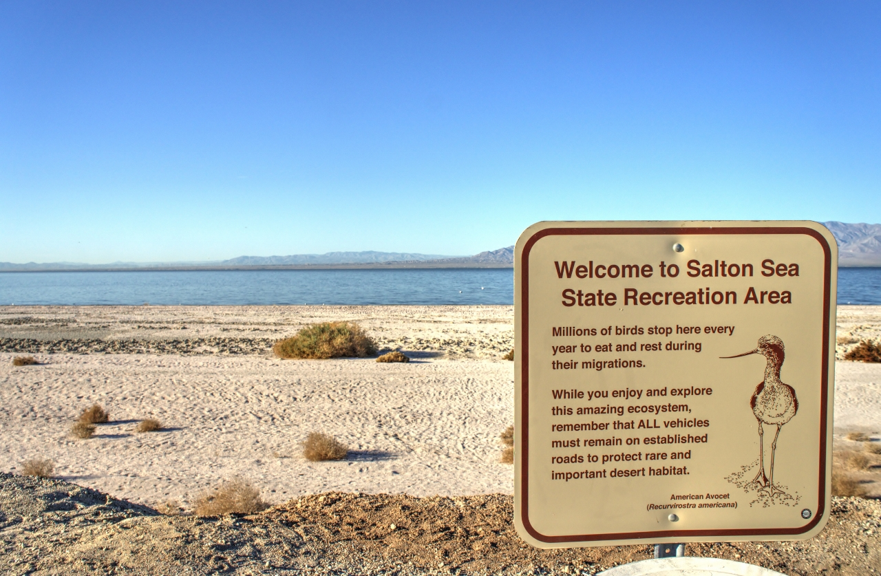 Welcome to Salton Sea State Recreation Area Sign
